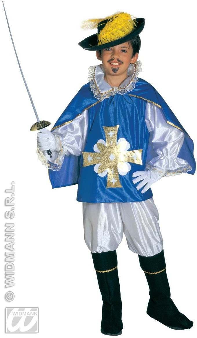 Musketeer Child Costume Blue/Red Costume Boys (Musketeers)
