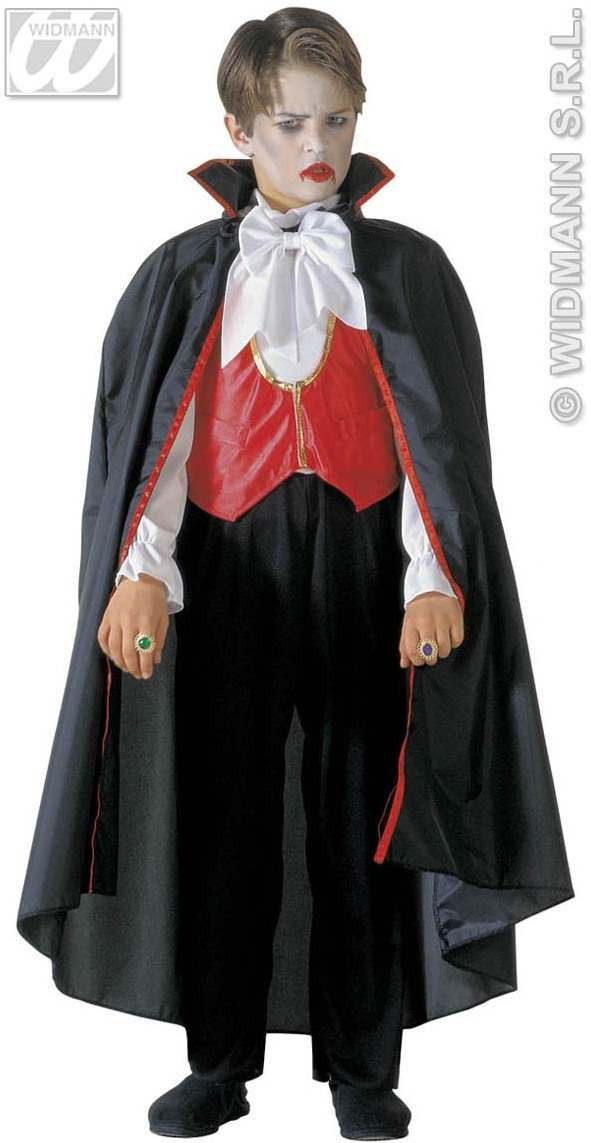 Vampire - Shirt W/Vest, Pants, Cape, Bow, Tie Costume (Halloween)