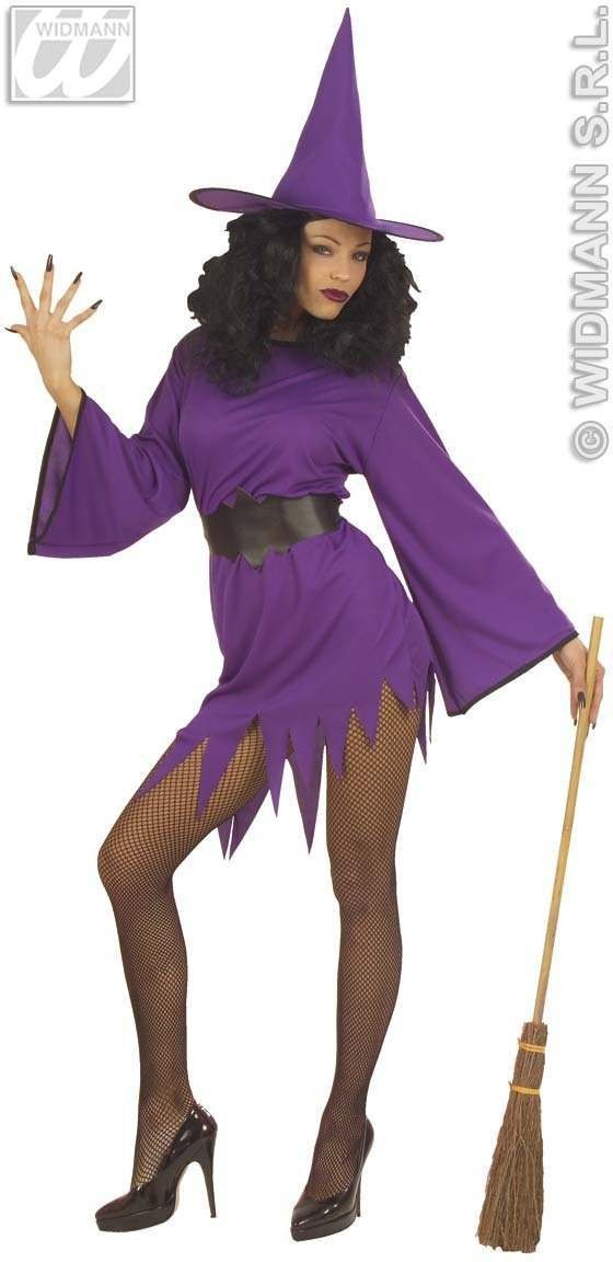 Witch Costume Adult Purple Promotional Costume Ladies (Halloween)