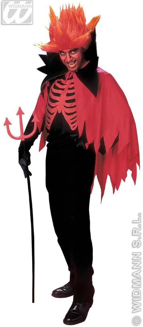 Scary Devil Costume Adult Prom Fancy Dress Costume Mens (Halloween)