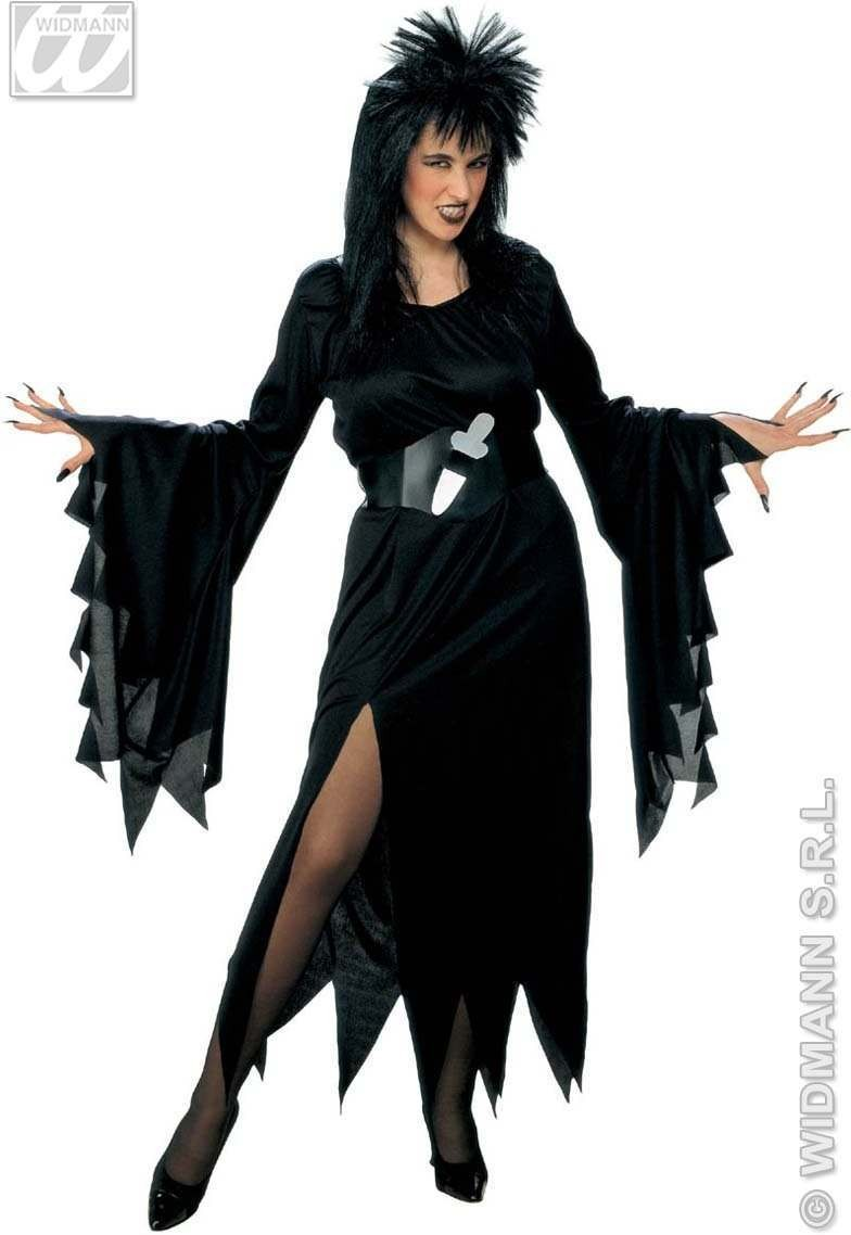 Elvira Costume Dress & Belt W/Dagger Costume Ladies (Halloween)