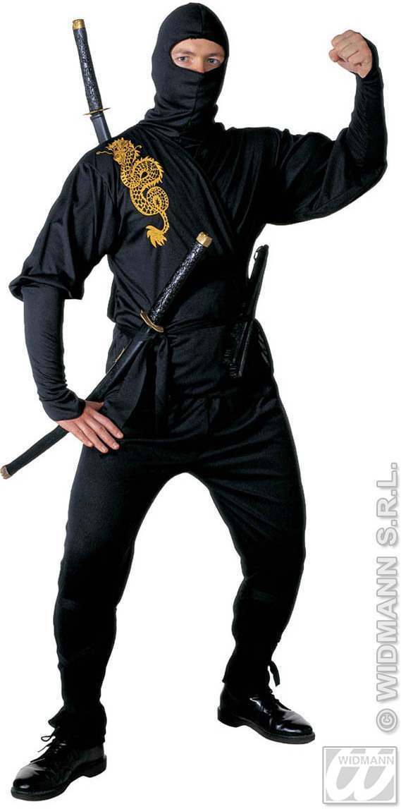 Ninja Adult Fancy Dress Costume Mens (Ninja)
