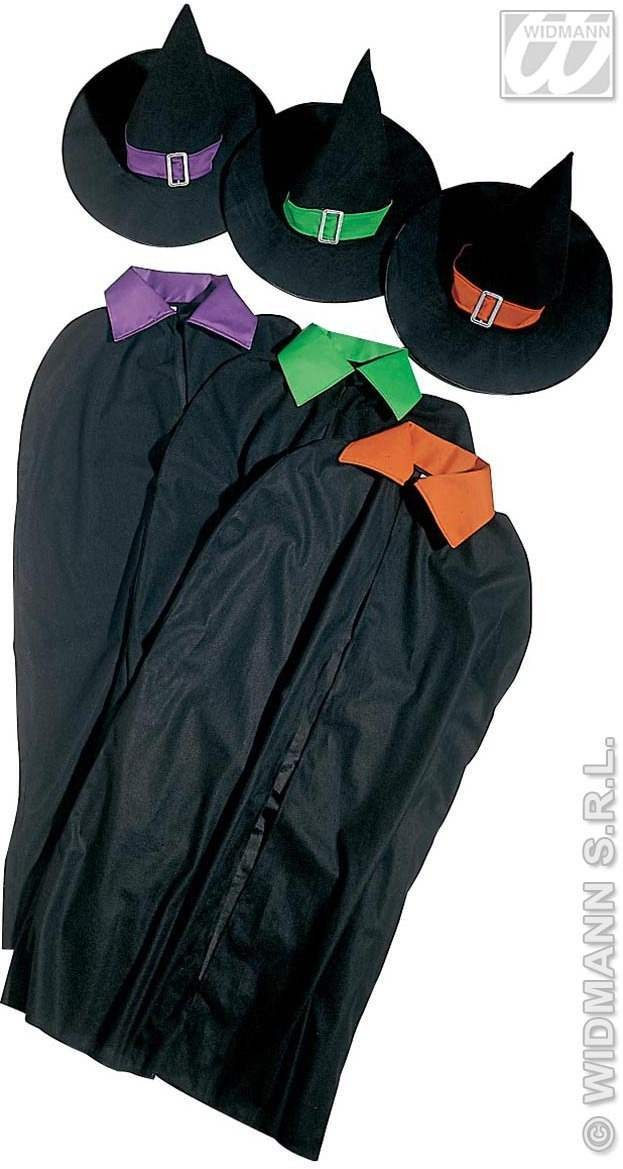 Witch Set Hat / Cape 3Cols Fancy Dress Costume (Halloween)