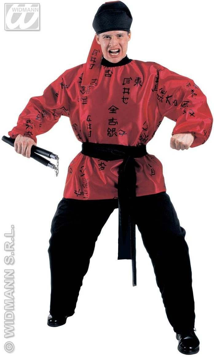 Samurai With Coat, Pants, Belt, Headpiece Fancy Dress (Oriental)