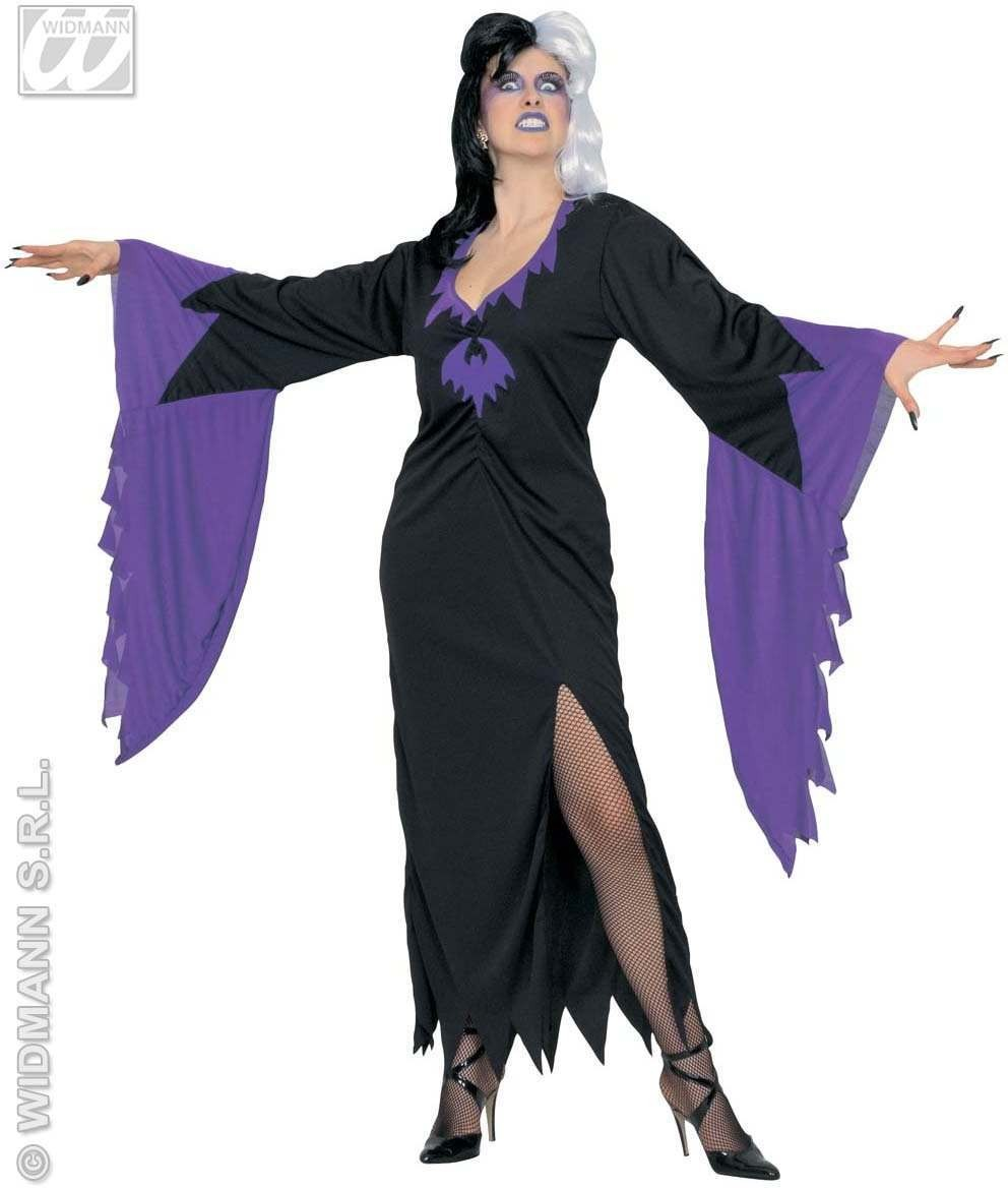 Morticia Dress Adult Fancy Dress Costume Ladies (Halloween)
