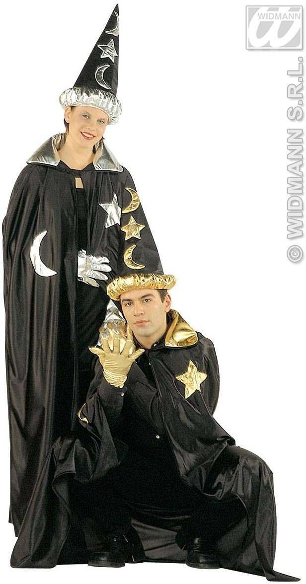 Wizard Set Hat/Cape Gold/Silver - Mens Size 40-42 M (Halloween)
