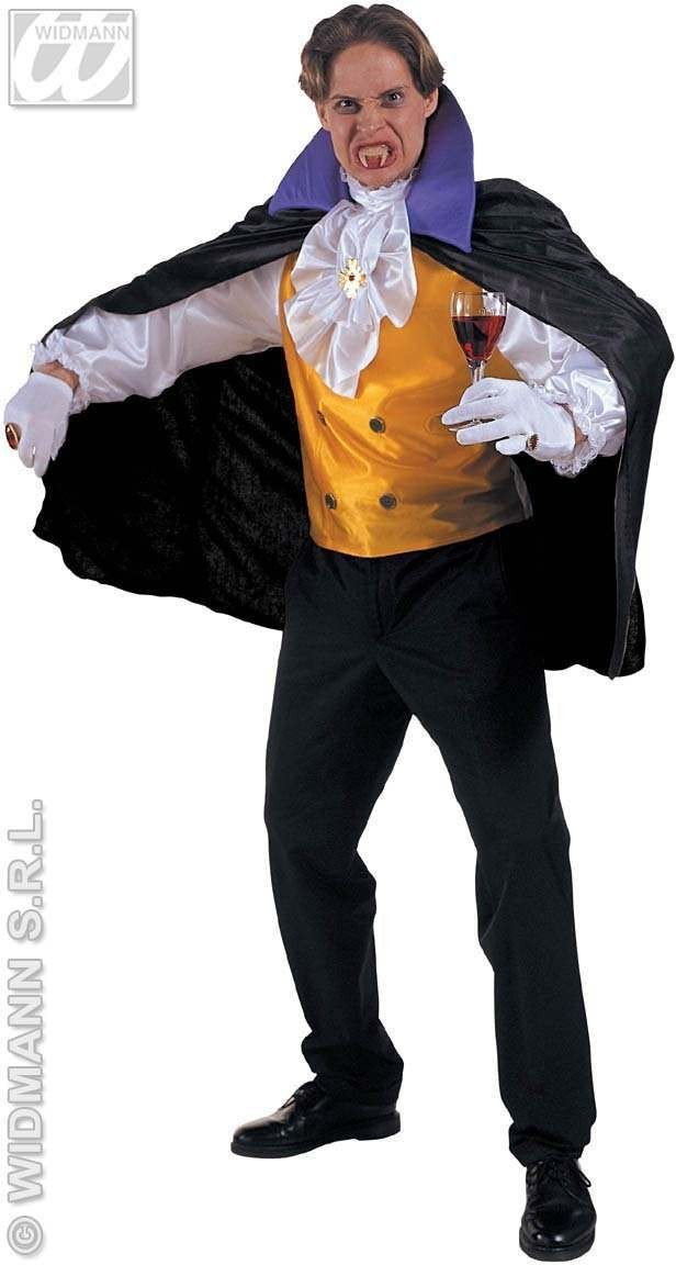 Count Dracula With Shirt W/Vest, Jabot W/Medal. Costume (Halloween)