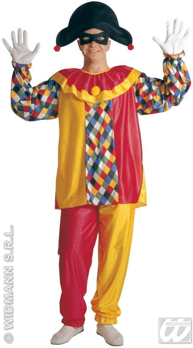 Harlequin Adult Fancy Dress Costume Mens (Clowns)