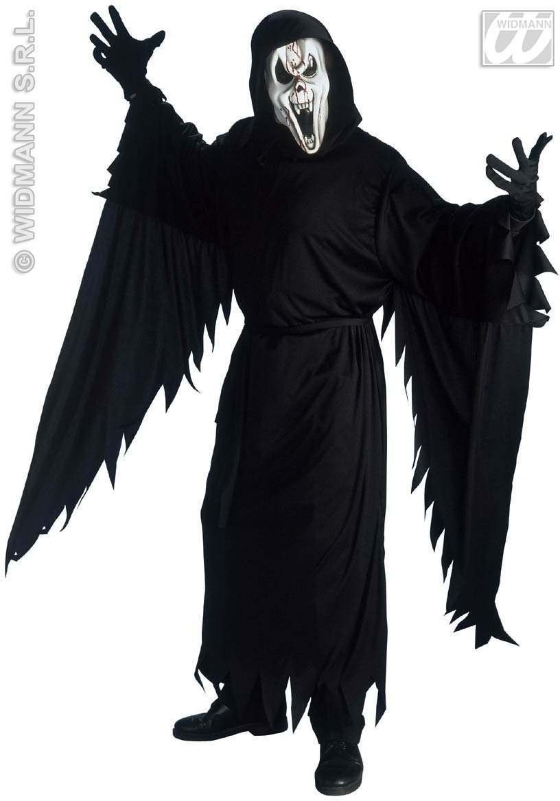Screaming Ghost Adult Fancy Dress Costume Mens (Halloween)
