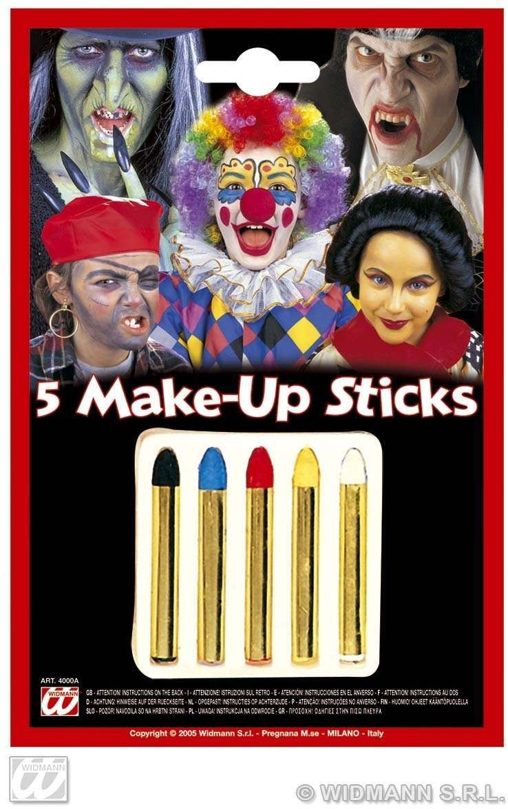 Makeup Sticks 5 Colour - Fancy Dress