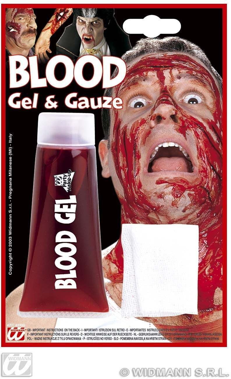Maxi Blood Gel Tube With Gauze - Fancy Dress