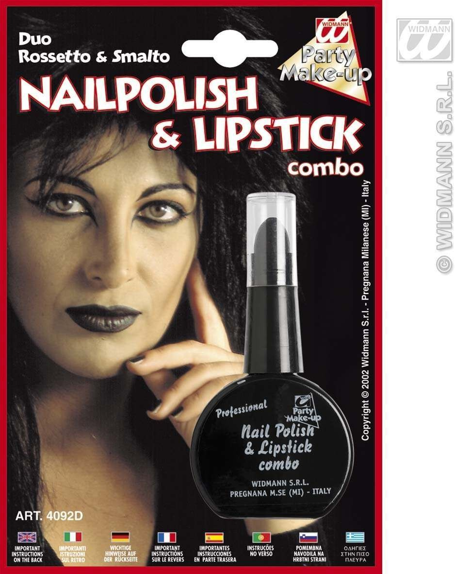 Nailpolish Lipstick Black - Fancy Dress