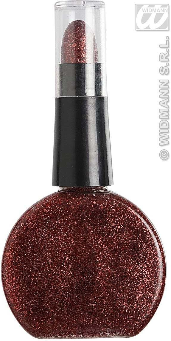 Red Glitter Lipstick & Nailpolish Combo - Fancy Dress