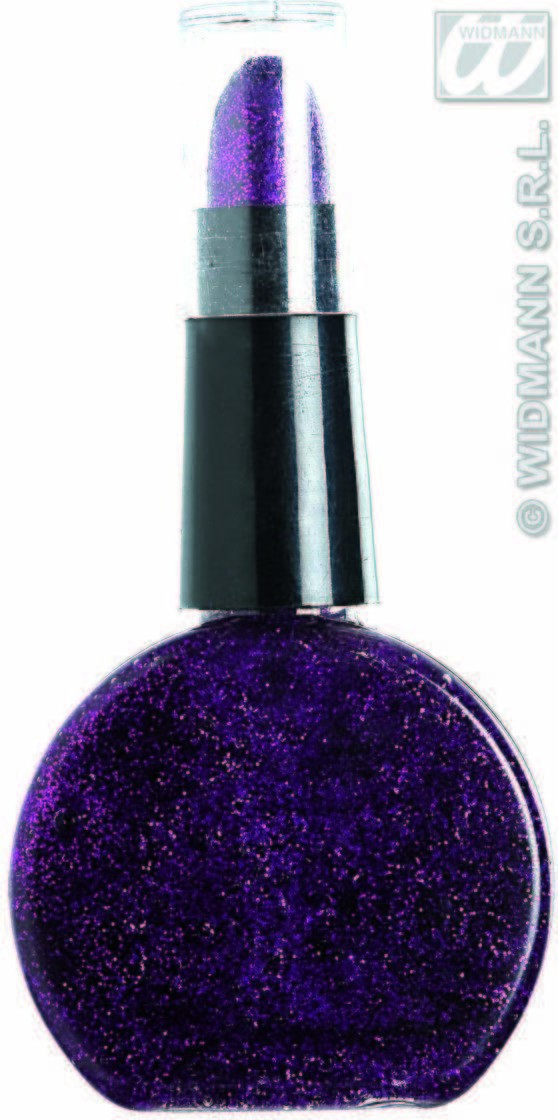 Purple Glitter Lipstick & Nailpolish Combo, Fancy Dress