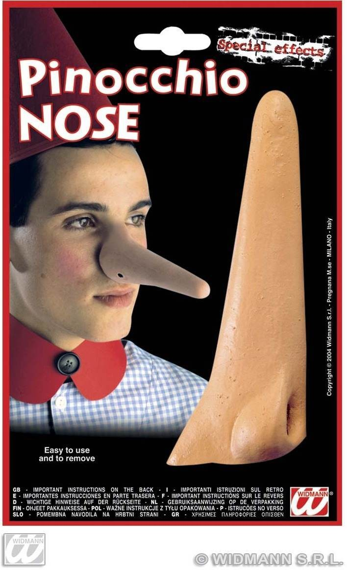 Pinocchio Nose With Adhesive - Fancy Dress