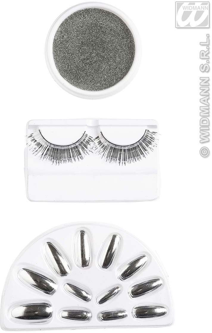 Makeup Set - Silver - Fancy Dress
