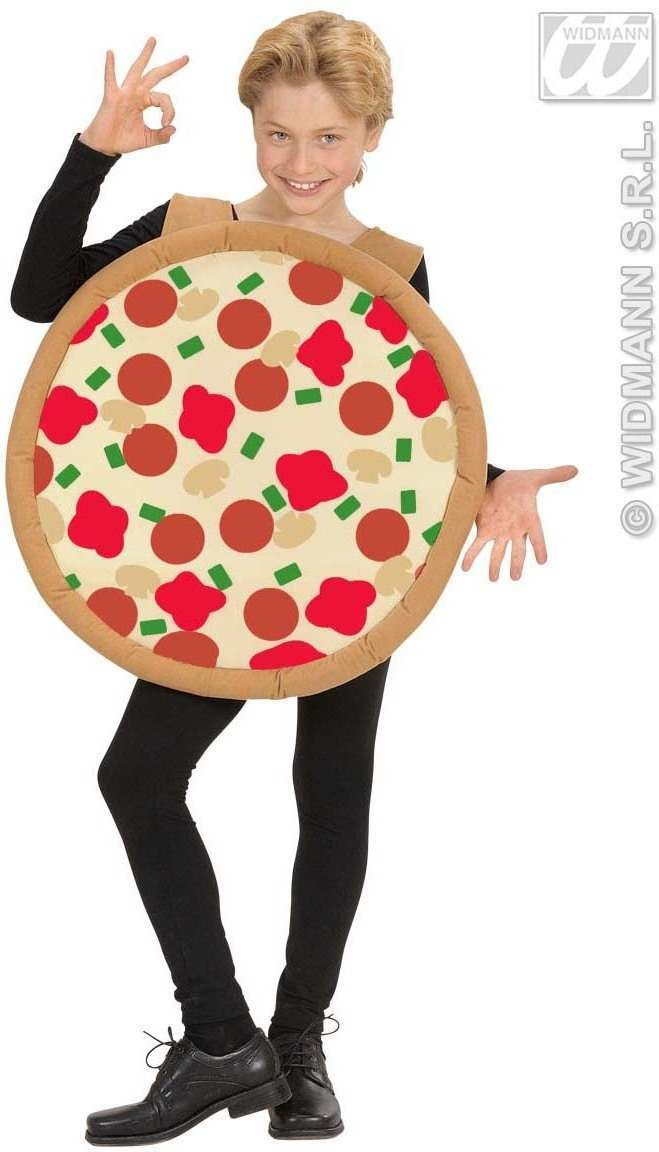 Round Pizza Costume - Child Size Fancy Dress Costume (Food)