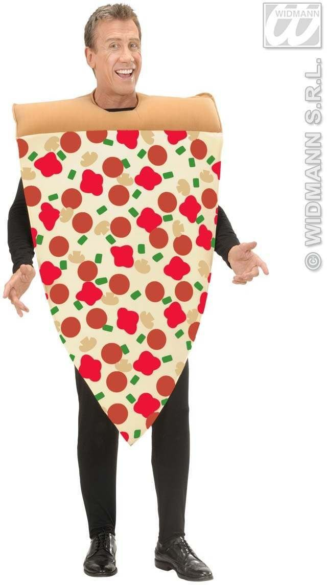 Slice Of Pizza Costume - Adult Size Fancy Dress Costume (Food)