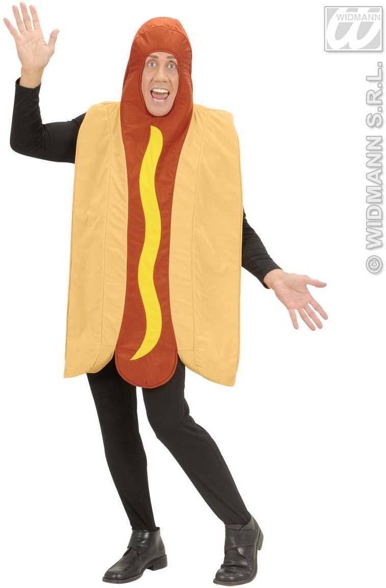 Hotdog Costume - Adult Size Fancy Dress Costume (Food)