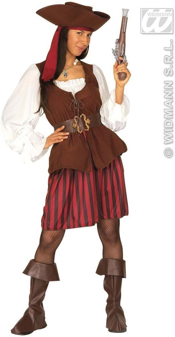 Xxl High Sea Pirate Lady Dress & Vest, Belt, Size 20-22 (Pirates)