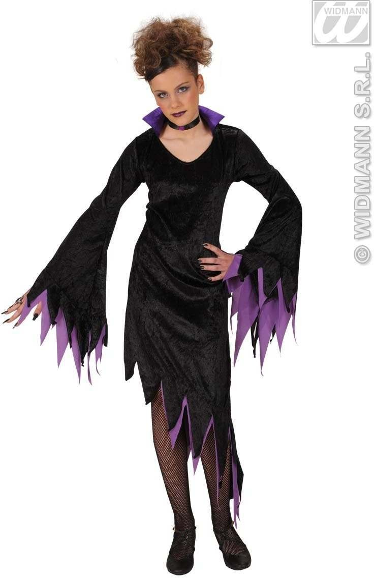 Velvet Dark Mistress Fancy Dress Costume Girls