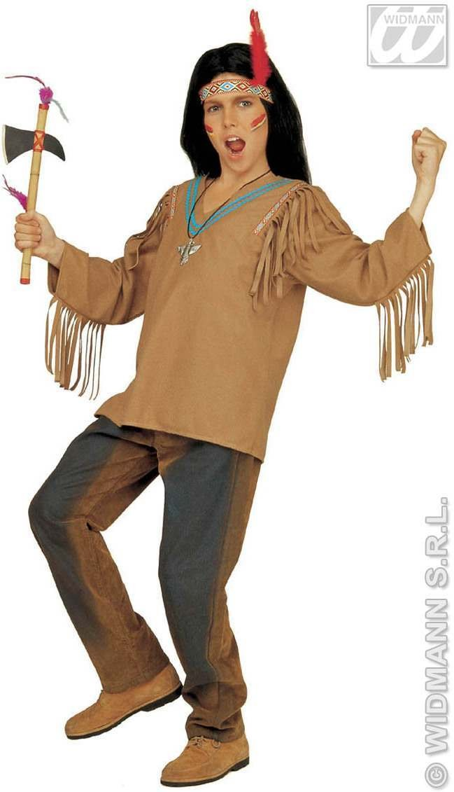 Apache With Coat, Headband With Feather Fancy Dress (Cowboys/Native Americans)