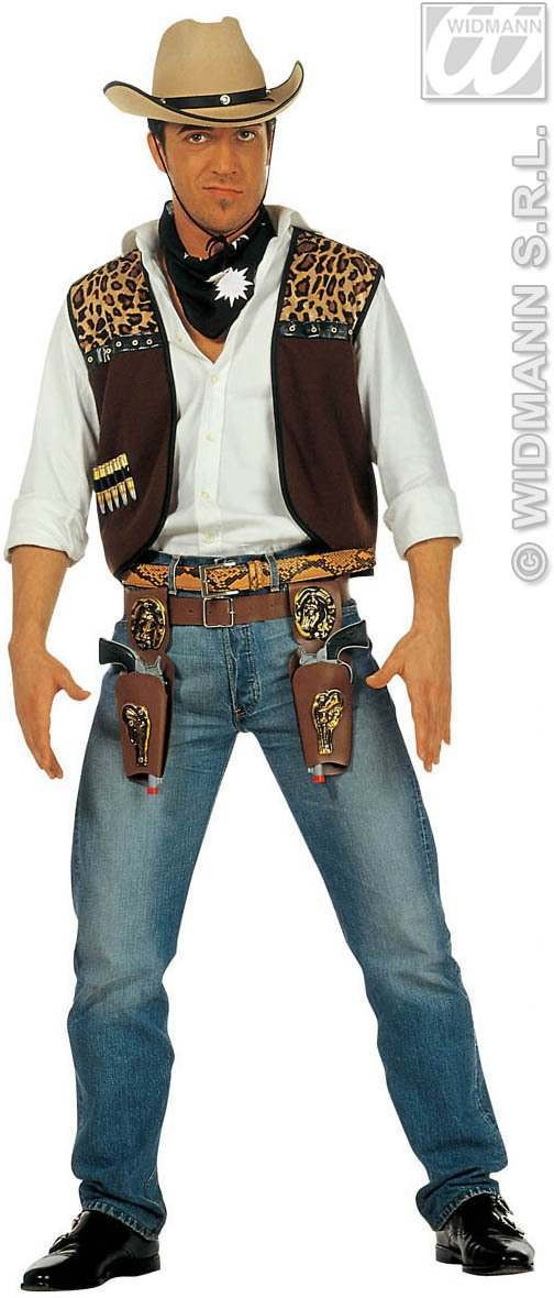 Cowboy Waistcoat With Bandana Fancy Dress Costume (Cowboys/Native Americans)