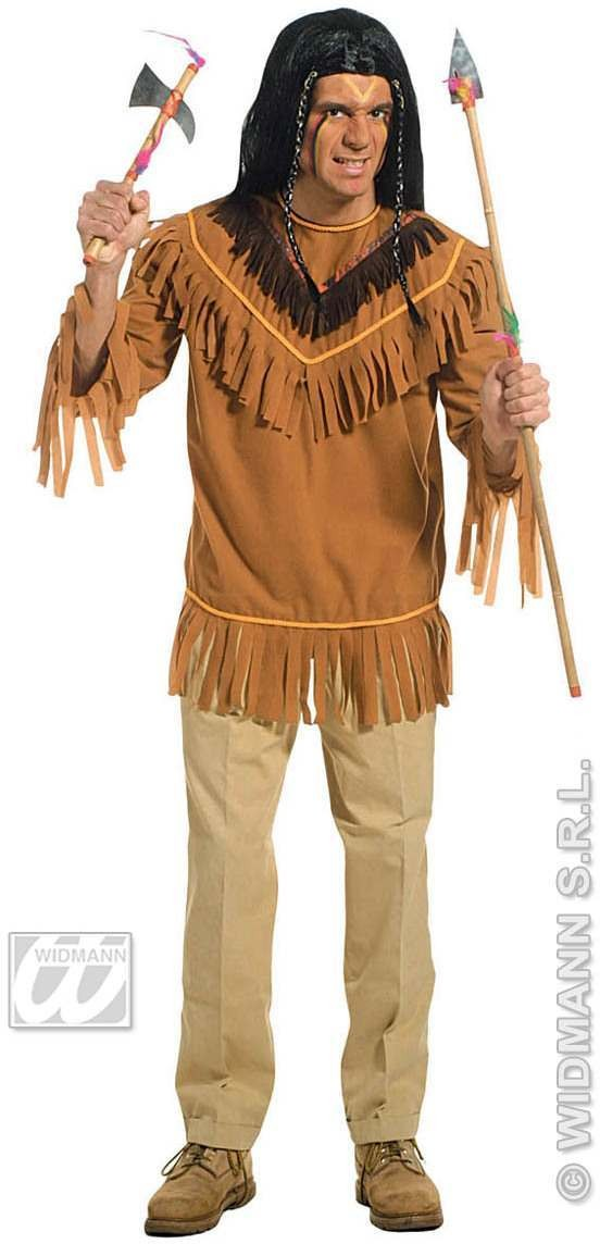 Native American Coat Adult Fancy Dress Costume Mens (Cowboys/Native Americans)