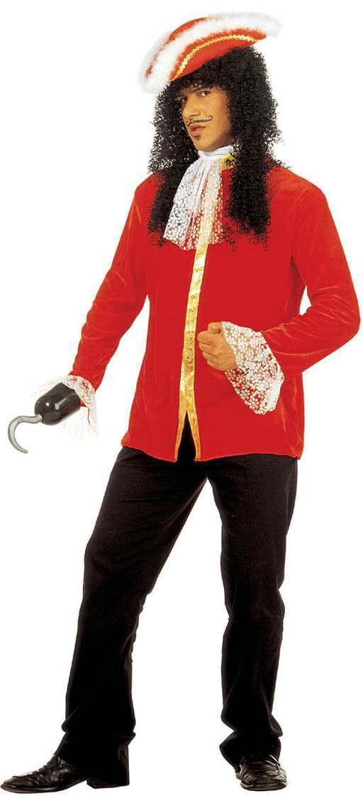 Buccaneer Coat With Jabot Wristband Fancy Dress Costume (Pirates)