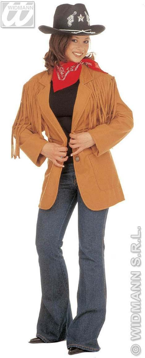 Wild West Jacket Fancy Dress Costume Ladies (Cowboys/Native Americans)
