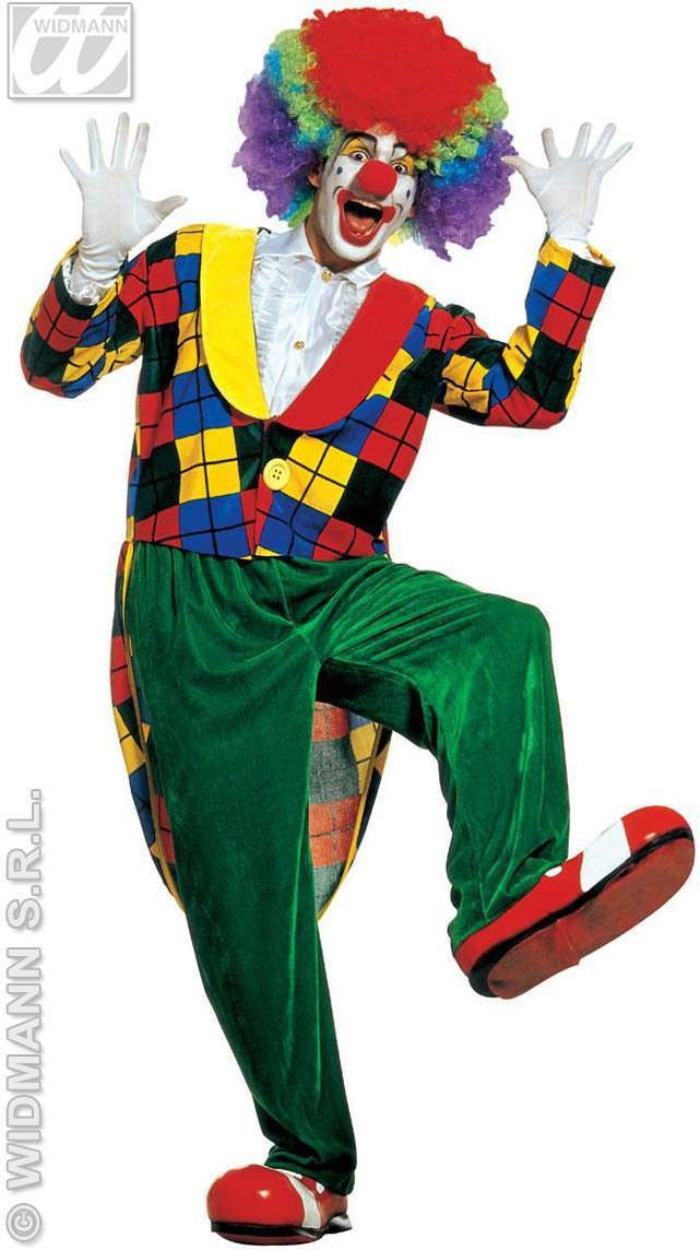 Clown Frac Velvet Adult Fancy Dress Costume (Clowns)