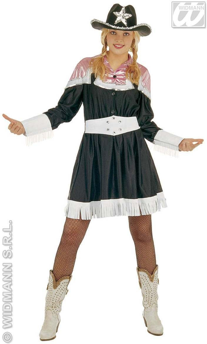Country Style Dress With Belt Adult Fancy Dress Costume