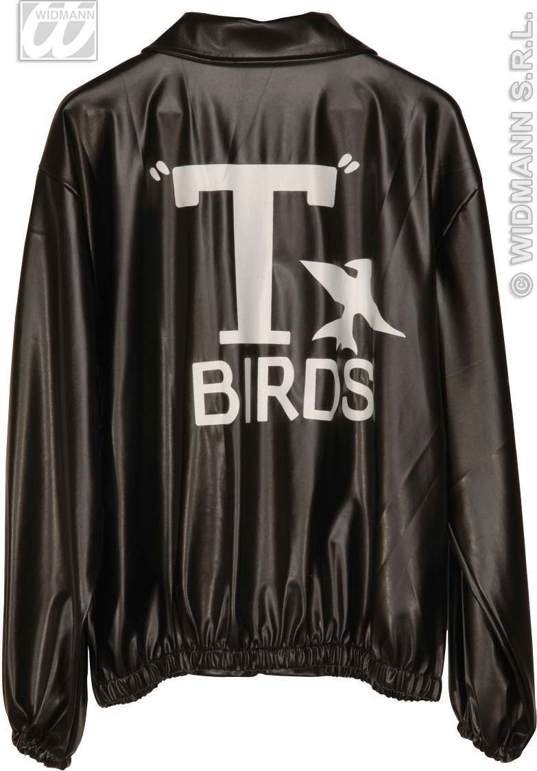T Bird Jacket Leatherlook Fancy Dress Costume