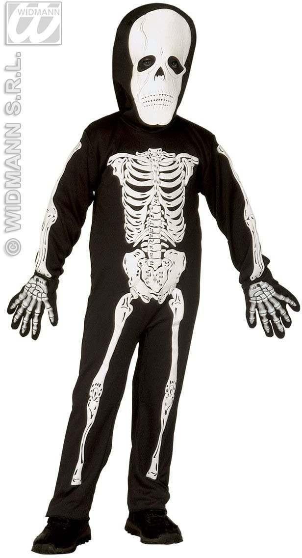 Little Skeleton Costume Child 4-5 Fancy Dress Costume (Halloween)