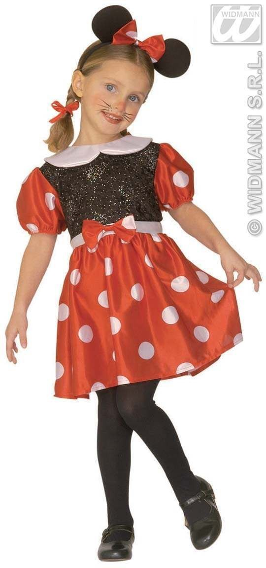 Little Mouse Girl Costume Child 4-5 Fancy Dress Costume (Animals)