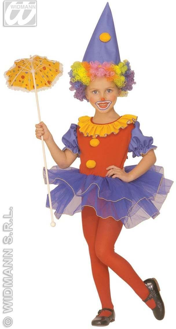 Little Clown Ballerina Costume Child 4-5 Costume Girls (Clowns)