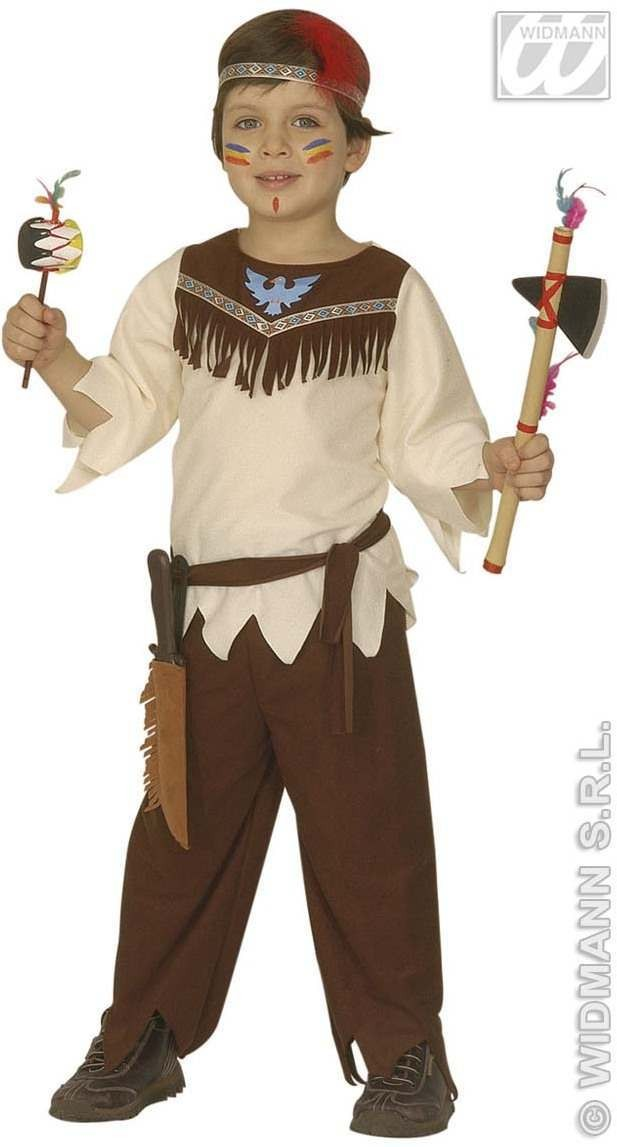 Little Native American Boy Child Costume 3-4 Fancy Dress Costume (Cowboys/Native Americans)