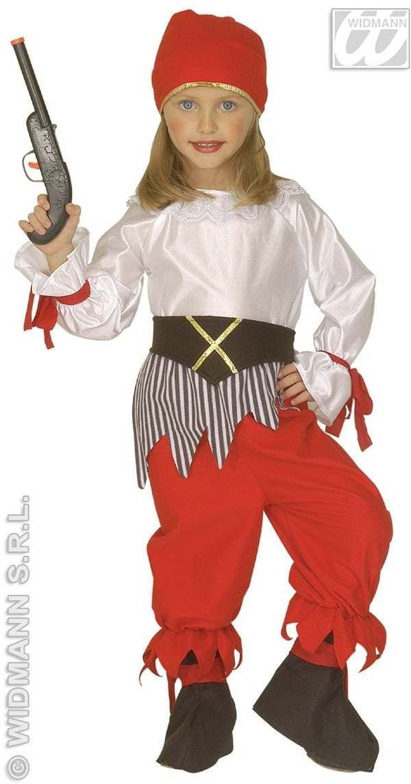 Little Pirate Girl Costume 4-5 Fancy Dress Costume (Pirates)