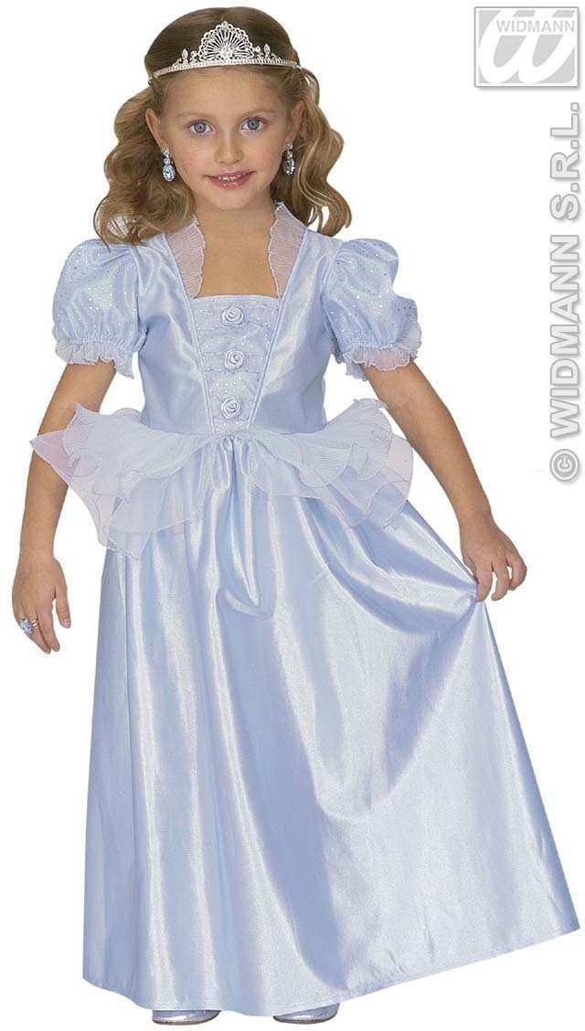 Princess Dress Blue Child Fancy Dress Costume Age 4-5 (Royalty)