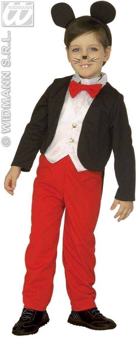 Mouse Boy - Frac W/Vest, Pants, Bow, Tie, Ears  Age 4-5 (Animals)
