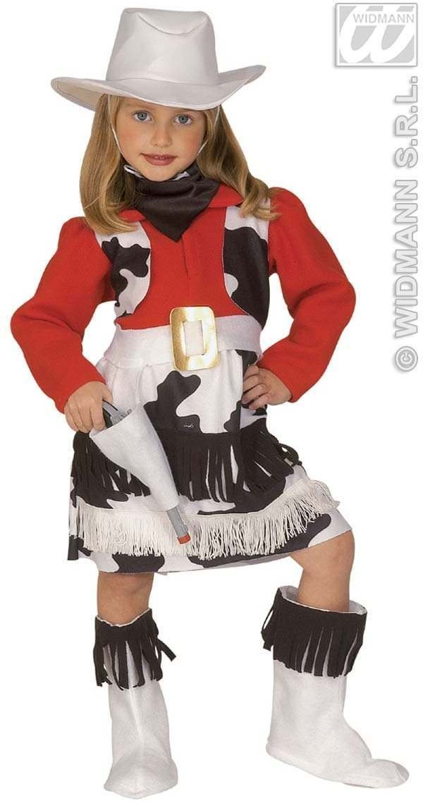 Cow, Girl & Dress W/Vest, Pistol Holster  Age 4-5 Girls (Animals)