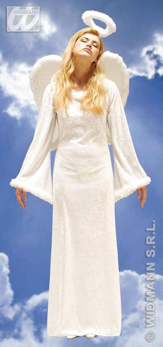 Velvet Heavenly Angel - Feather Trimmed Dress Costume (Christmas)