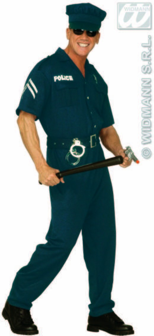 Cop Male Adult Fancy Dress Costume Mens (Cops/Robbers)