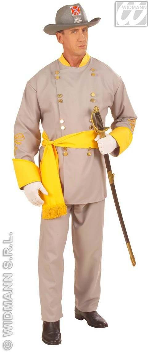 Confederate General Fancy Dress Costume Mens
