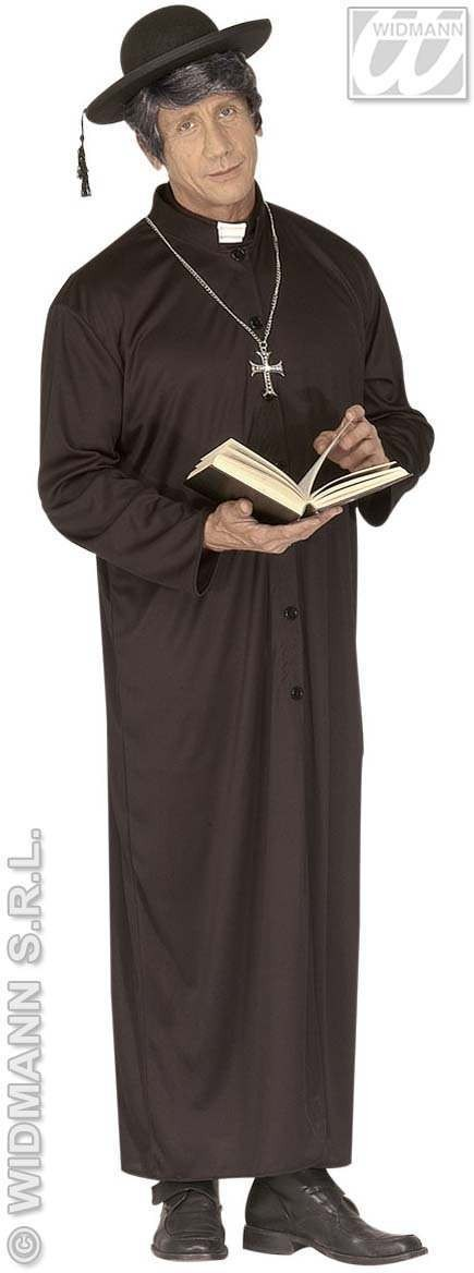 Naughty Priest With Robe, Bodysuit Fancy Dress Costume (Vicars/Nuns)