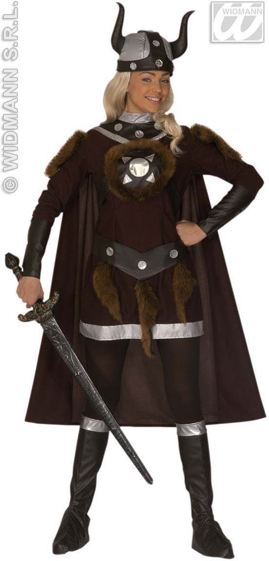 Viking Viktoria Adult Fancy Dress Costume Ladies (Viking)