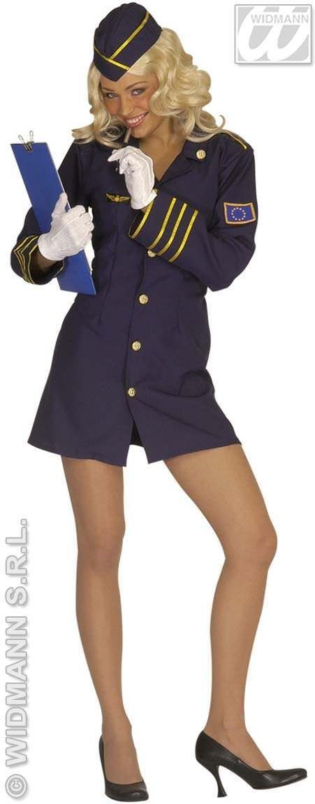 Flight Attendant Adult Fancy Dress Costume Ladies (Pilot/Air)