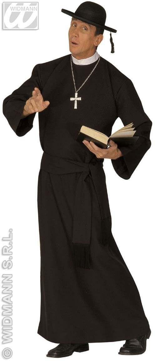 Deluxe Priest Adult Fancy Dress Costume Mens (Vicars/Nuns)