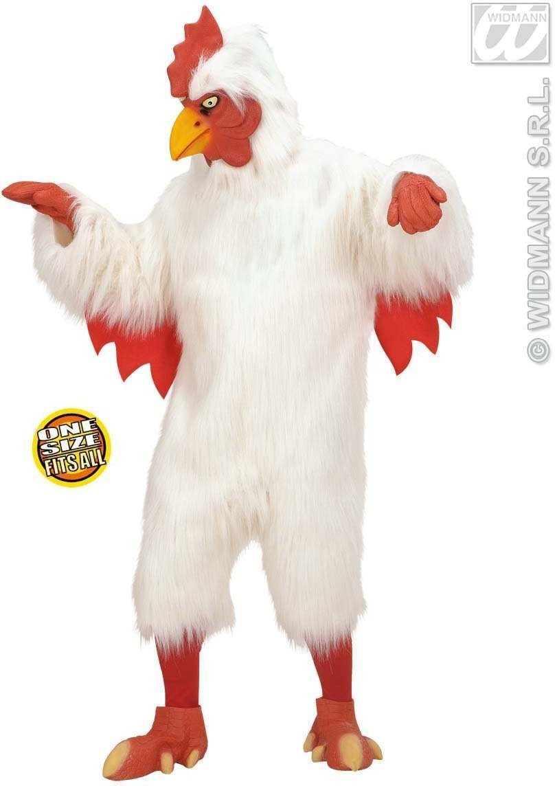 Plush Chicken Costume Adult Fancy Dress Costume (Animals)