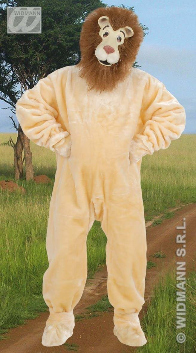 Plush Lion Costume Adult Fancy Dress Costume (Animals)